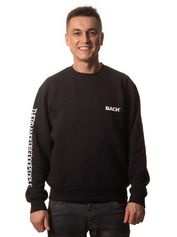 Men's Hoodie BACH® with Claim on sleeve